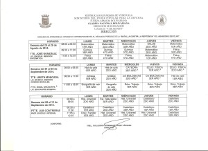 HORARIO DE APRENDIZAJE INTENSIVO CORRESPONDIENTE AL 2do. PERIODO DE LA BATALLA CONTRA LA REPITENCIA Y EL ABANDONO ESCOLAR